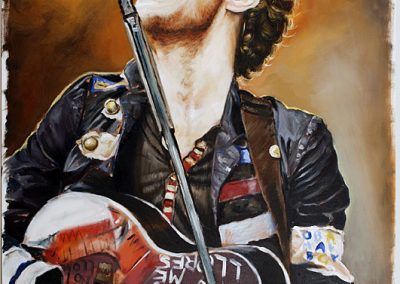 Chris Martin oil on canvas