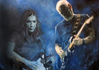 David Gilmour oil on canvas