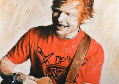 Ed Sheeran oil on canvas