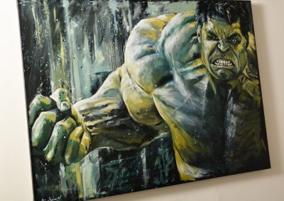 Hulk mixed media on canvas