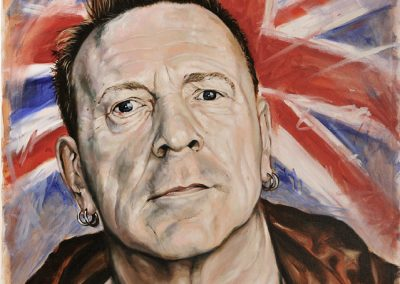John Lydon oil on canvas commission
