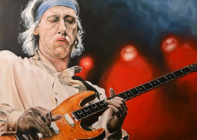 Mark Knoplfer oil on canvas commission