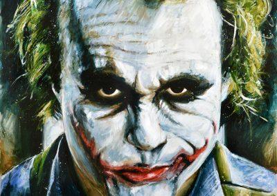 The Joker mixed media on metal