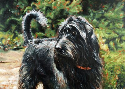 'Milly' oil on canvas commission