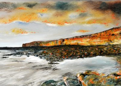 Nash Point mixed media on metal 180cm x 60cm