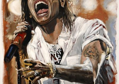 Steve Tyler oil on canvas