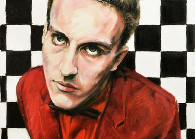 Terry Hall oil on canvas commission