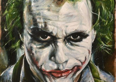 The Joker mixed media on metal