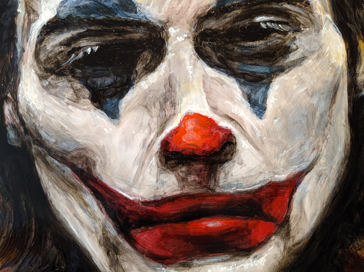 Joker – Metal artwork. Time lapse.